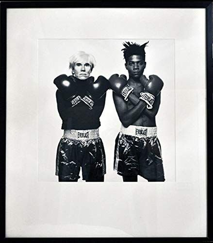 MICHAEL HALSBAND Andy Warhol and Jean-Michel Basquiat Signed Photograph, 1997