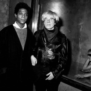 RON GALELLA Andy Warhol and Jean-Michel Basquiat at Area, New York, 1984