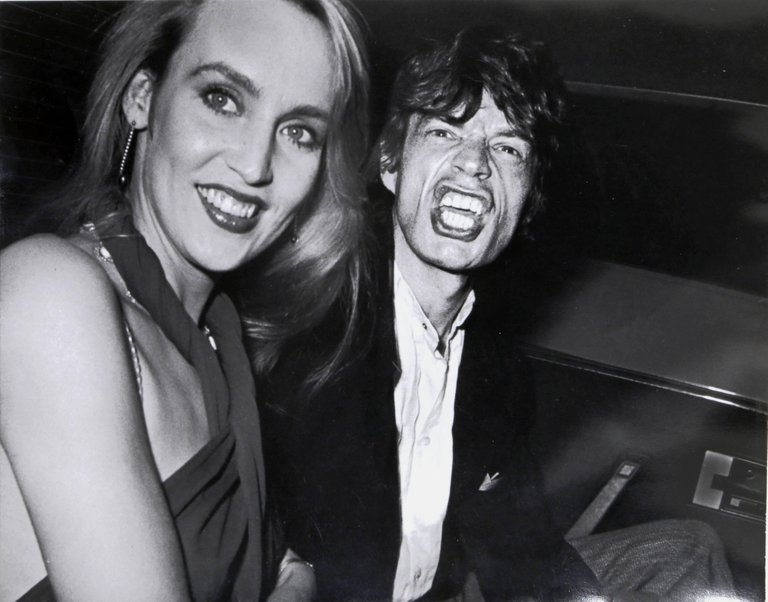 "RON GALELLA ""Limelight"", Photo of Mick Jagger and Jerry Hall by Ron Galella, 1984"