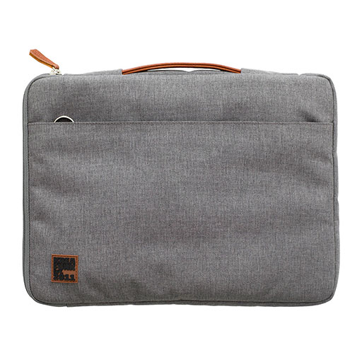 aSleeve Laptop Case – PU Leather/Canvas – Light Grey