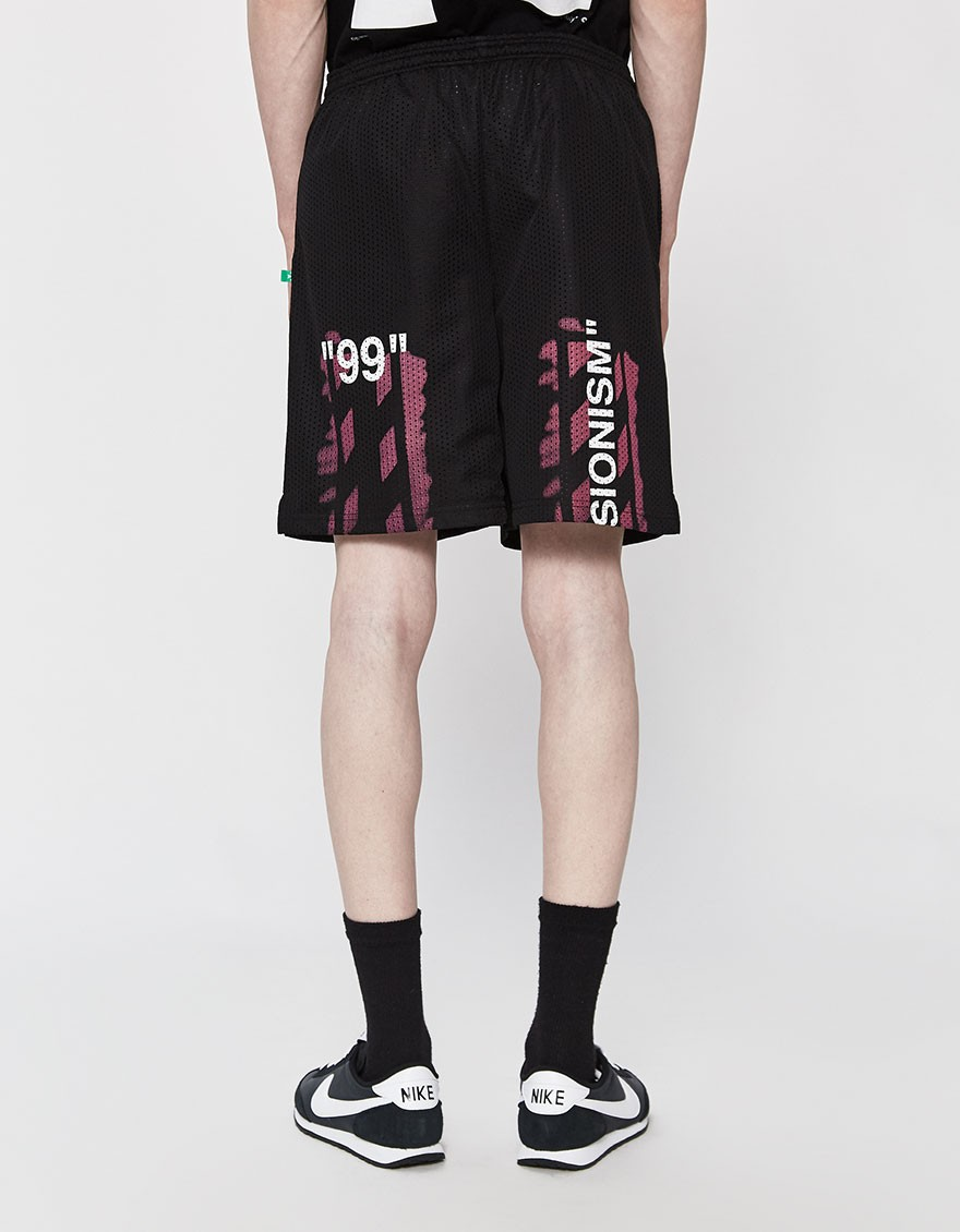 OFF-WHITE Diagonal Stencil Mesh Short