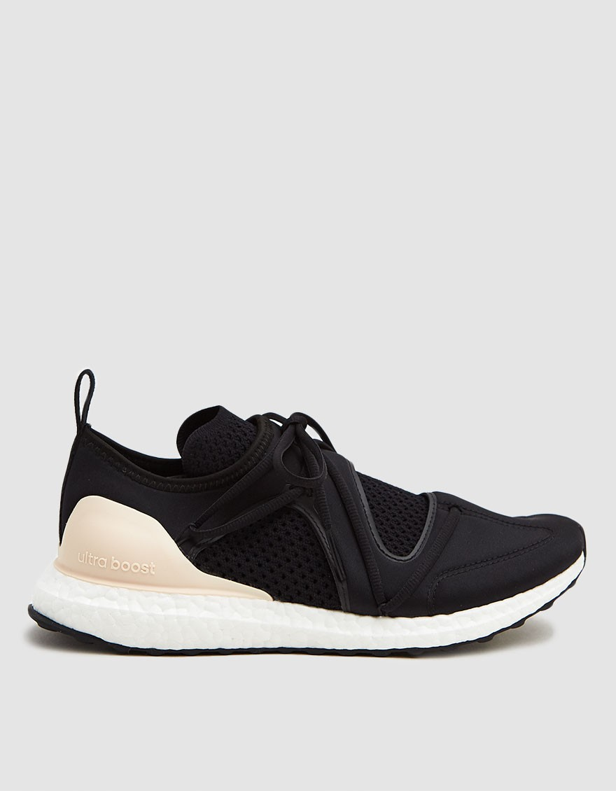Adidas by Stella McCartney UltraBOOST T. S. Sneaker in Core Black/Core Black/Soft Apricot