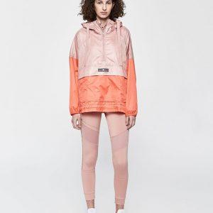 Adidas by Stella McCartney Hooded Half-Zip Windbreaker