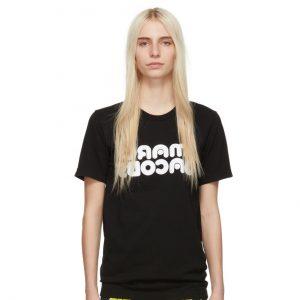 MARC JACOBS Black Redux Grunge Backwards T-Shirt