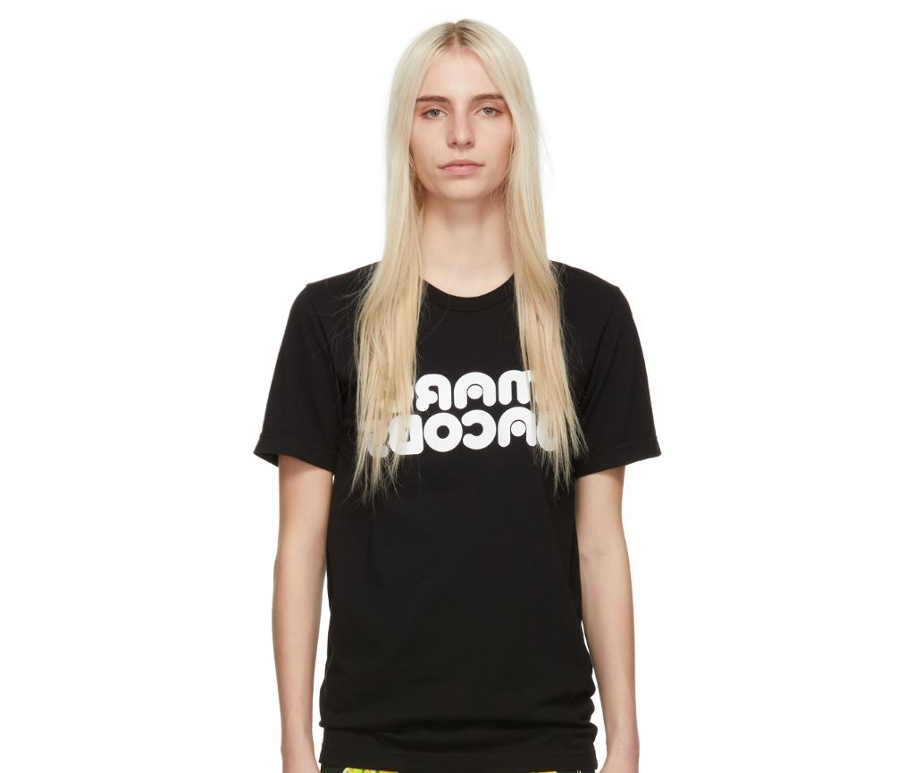 MARC JACOBS Black Redux Grunge Backwards T-Shirt