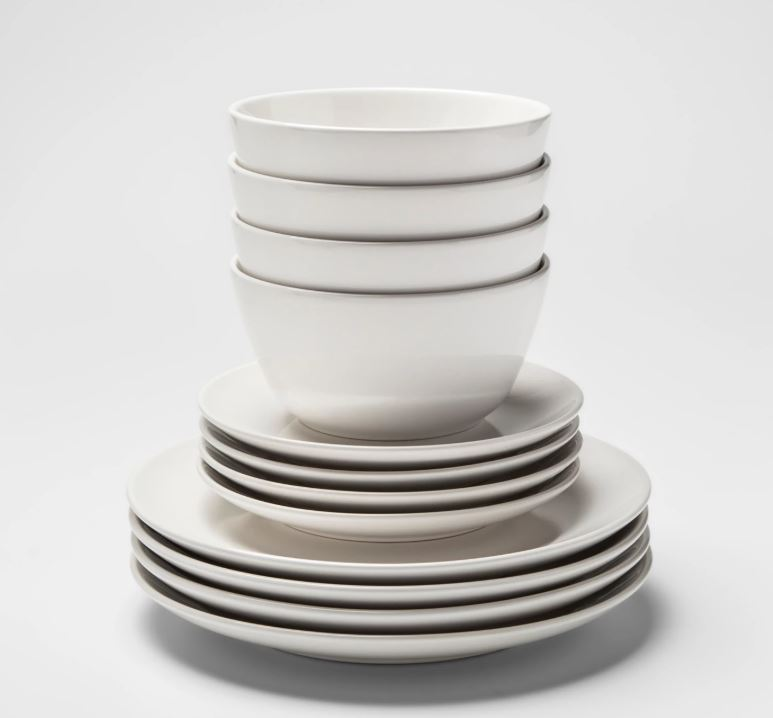 PROJECT 62 12pc Avesta Stoneware Dinnerware Set White