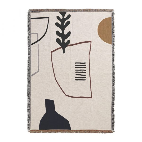 FERM LIVING Mirage Blanket - Off White