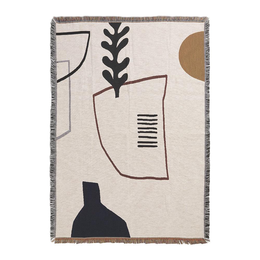 FERM LIVING Mirage Blanket – Off White