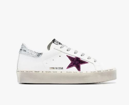 GOLDEN GOOSE DELUXE BRAND Doodle Star Embellished Leather Sneakers