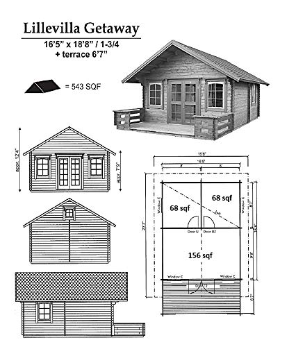 Lillevilla Allwood Cabin Kit Getaway - Free shipping