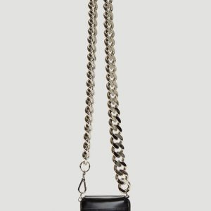 KARA Curb Chain Bikers Wallet in Black
