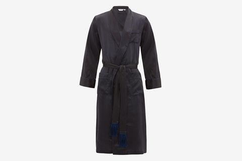 Brindisi Micro Polka Dot Belted Silk Robe