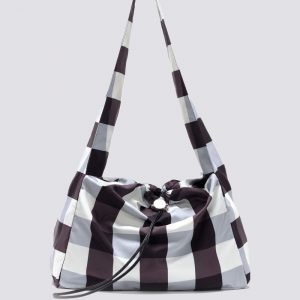 KARA Gingham Cloud Bag