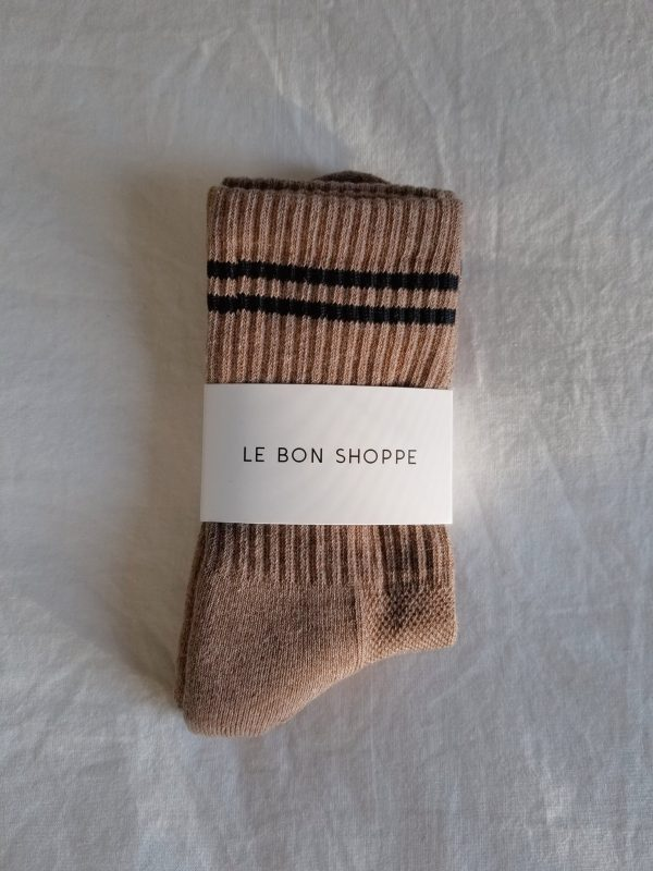 LE BON SHOPPE Boyfriend Socks - Cocoa