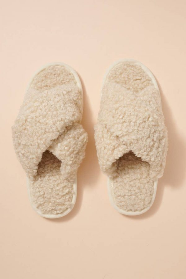 PULP BASICS Teddy Sherpa Indoor/Outdoor House Slipper