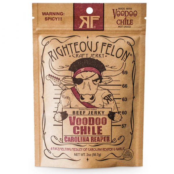 RIGHTEOUS FELON Voodoo Chile Beef Jerkey