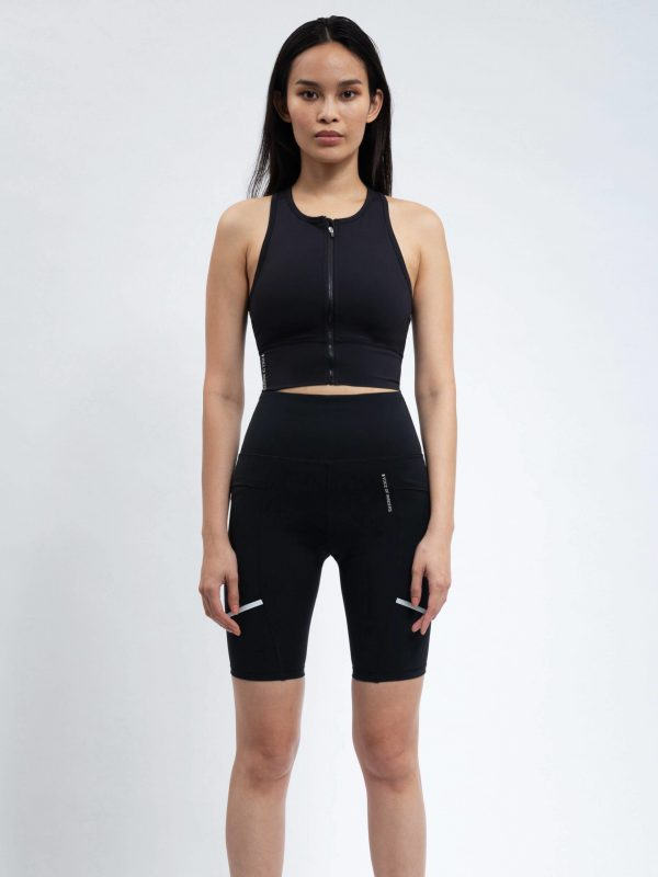 VOICE OF INSIDERS Zip Front Racer Back Sports Top
