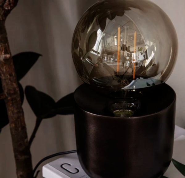 HOUSE DOCTOR Gleam Antique Brown Table Lamp