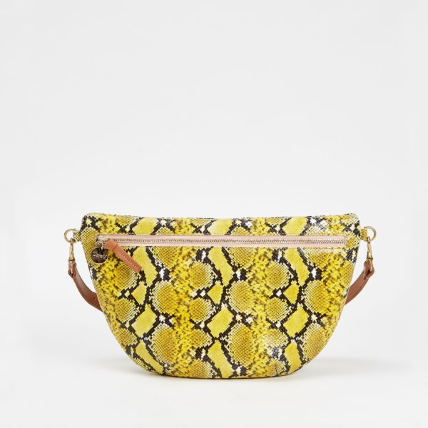 CLARE V. Grande Fanny Pack in Embossed Leather
