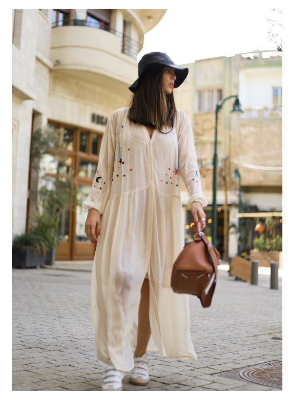ME369 'Give Me Space' Button Front Maxi Dress