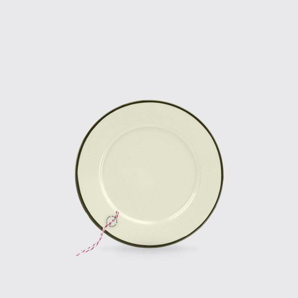 UTILITARIO MEXICANO Enamel Plate M24 - Cream/Black