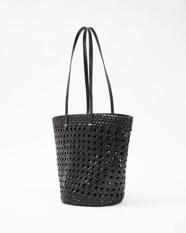 CLARE V. Choupette in Woven Leather - Black or Cream