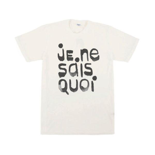 CLARE V.  Je Ne Sais Quo Tee in Cream w/Black