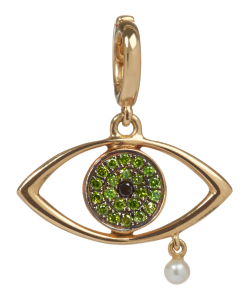 ANNOUSHKA x The Vampire's Wife 18ct Gold 'The Weeping Song' Diamond and Pearl Charm