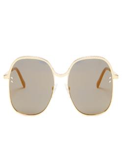 STELLA MCCARTNEY Oversized square-frame chain sunglasses