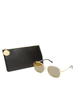 STELLA MCCARTNEY Oversized square-frame chain sunglasses