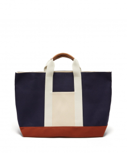 RUE DE VERNEUIL Tool XL leather-trimmed canvas tote bag