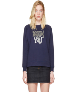 ALEXACHUNG  Navy 'Screw You' Sweatshirt
