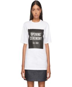 OPENING CEREMONY White Unisex Box Logo T-Shirt