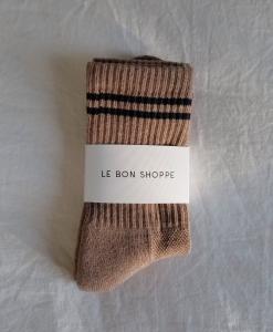 LE BON SHOPPE Boyfriend Socks – Cocoa