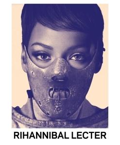 STUDIO KALLE MATTSSON 'RIHANNIBAL LECTER' Mashup Art Print