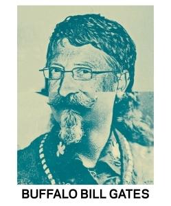 STUDIO KALLE MATTSSON 'BUFFALO BILL GATES' Mashup Art Print