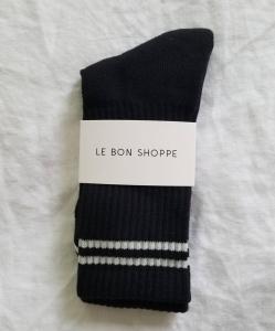 LE BON SHOPPE Boyfriend Socks – Noir