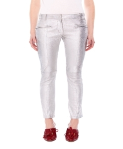 SIES MARJAN Brin Metallic Leather Biker Pant