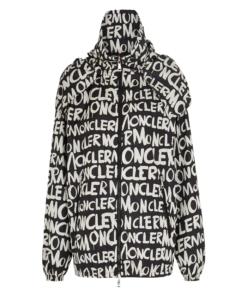 MONCLER Hanoi Logo Print Hooded Jacket