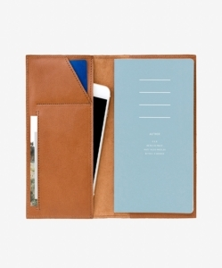 THIS IS GROUND Leather Notebook Cellphone Cover