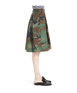 HARVEY FAIRCLOTH Camouflage Print Asymmetrical Skirt