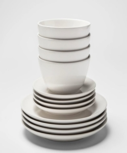 PROJECT 62 12pc Avesta Stoneware Dinnerware Set White