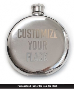 IZOLA PERSONALIZED HAIR OF THE DOG 3OZ FLASK