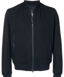 HERNO Stretch Cotton Bomber Jacket