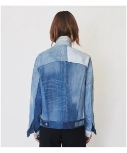 ASSEMBLY NEW YORK Mixed Denim Oversized Jean Jacket