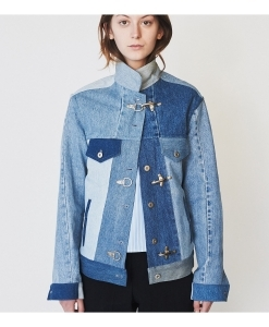 ASSEMBLY NEW YORK Mixed Denim Oversized Jean Jacket