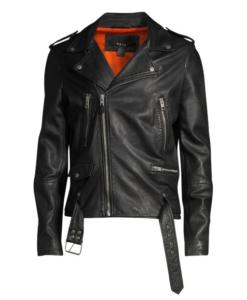 KSUBI Loathing Leather Biker Jacket