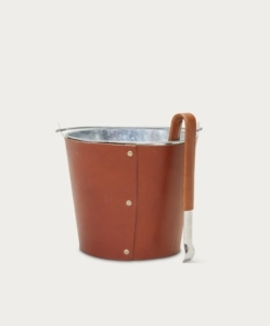 JENNI KAYNE Leather Ice Bucket & Tongs