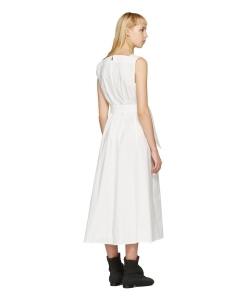 LEMAIRE White Flared Dress
