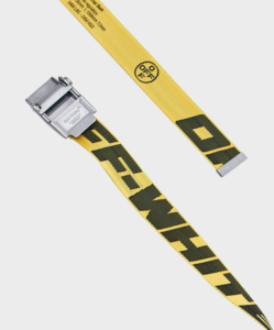 OFF-WHITE 2.0 Industrial Belt in Yellow and Black